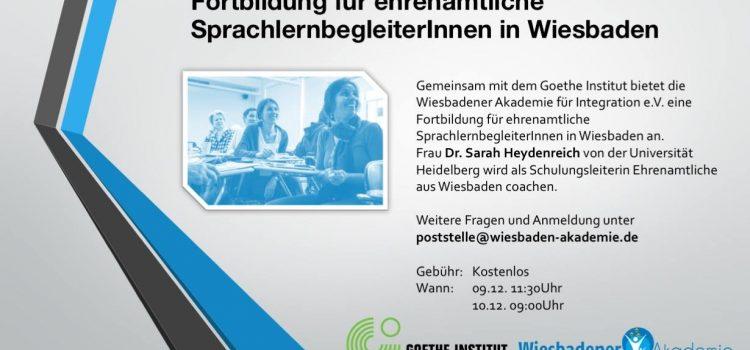 Fortbildung für ehrenamtliche SprachlernbegleiterInnen in Wiesbaden